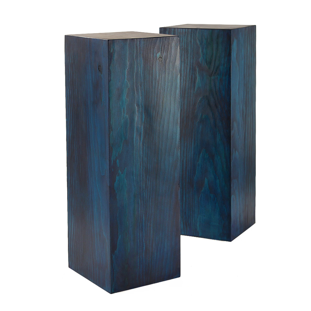 Blue Stained Cube Tables