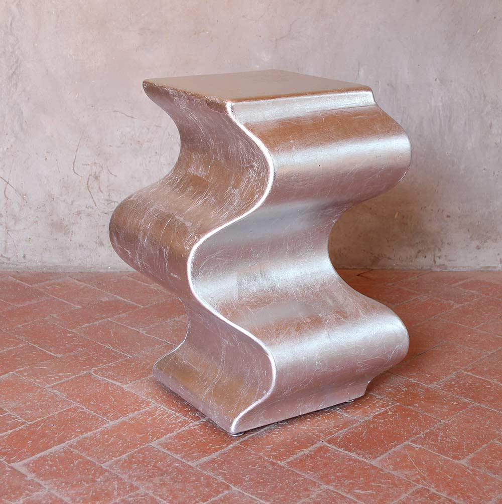 Silverleaf Wave Side Table