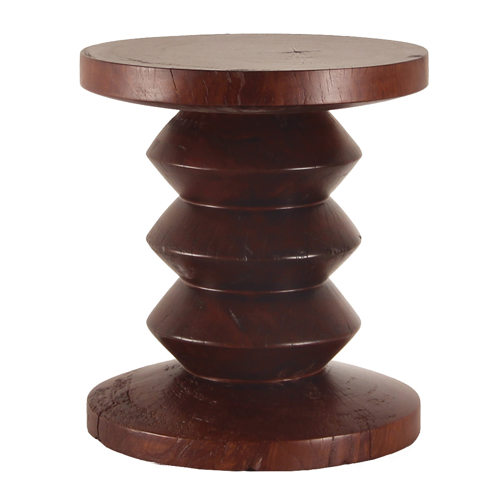Solid Turned Wood Stool