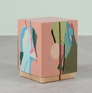 La Figura Painted Cube Table