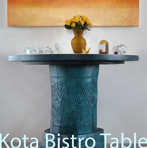 Kota Hand Carved Bistro Table