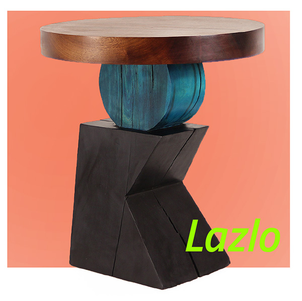 Lazlo Sculptural End Table