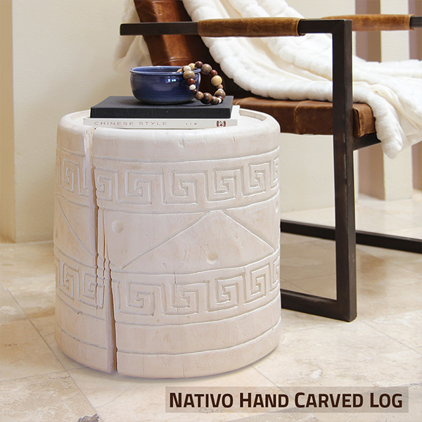 Nativo Hand Carved Log Table
