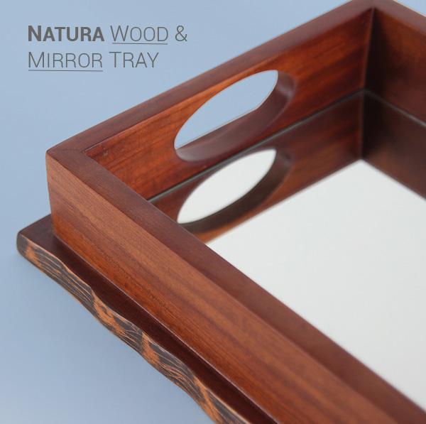 Natura Wood and Mirror Tray