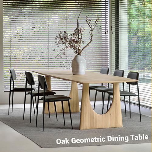 Oak Geometric Dining Table
