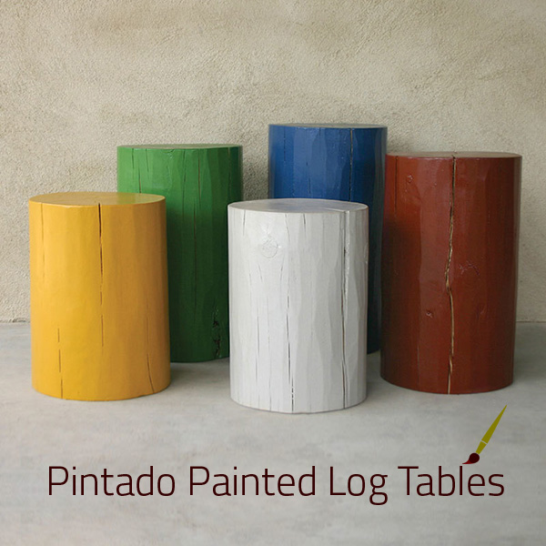 Pintado Painted Log Tables