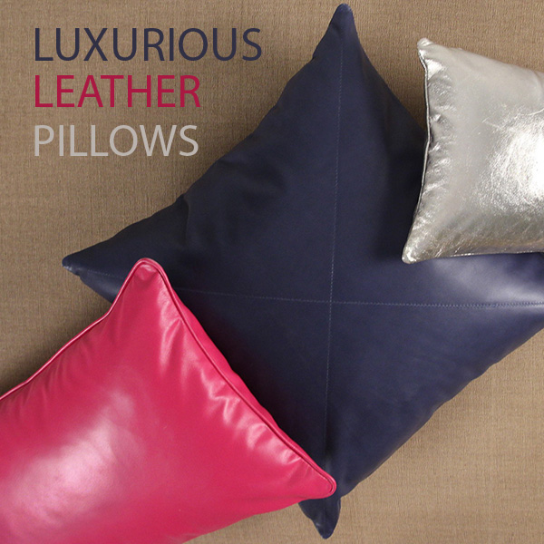 Luxurious Leather Pillows