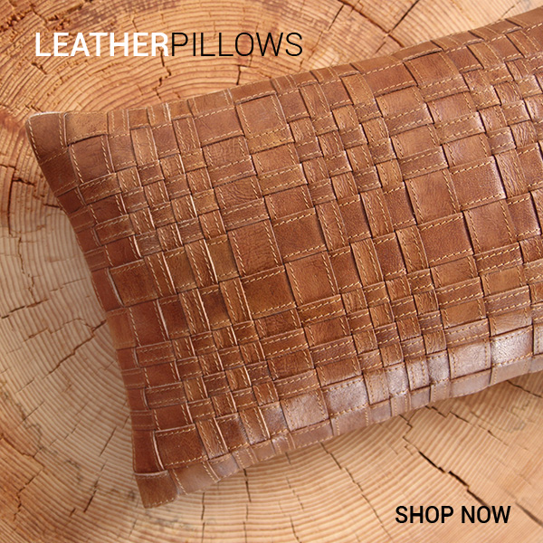 Leather Throw Pillows