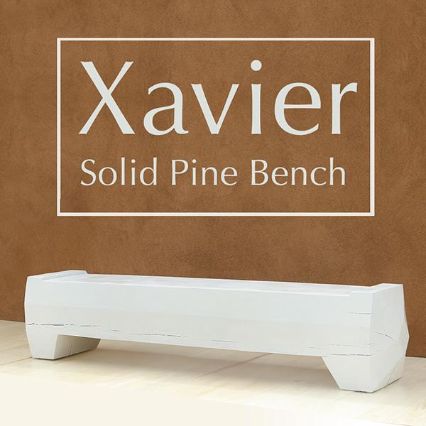 Xavier Solid Pine Bench