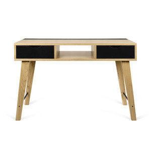 As Shown: Lime Console Size: 47 x 18 x 31 H inches Material: Oak Veneer, Lacquered Wood