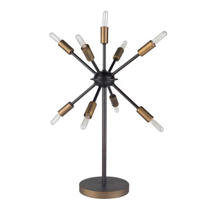 As Shown: Otto Table Lamp - OTO-001 Size: 14.5 dia x 23.25 H inches Material: Metal