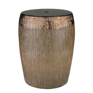 As Shown: Amalie Ceramic Stool - AML-001 Size: 13 dia x 17.5 H inches Material: Ceramic