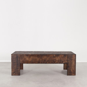 As Shown: Galisteo Cocktail Table Size: 60 x 24 x 20 H inches Finish: Dark Walnut Topcoat: Oiled Finish