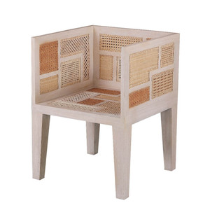 As Shown: Basilisa Chair Size: 23.75 x 23.75 x 32 H inches, Seat 17.25 H inches Material: Mahogany with Rattan