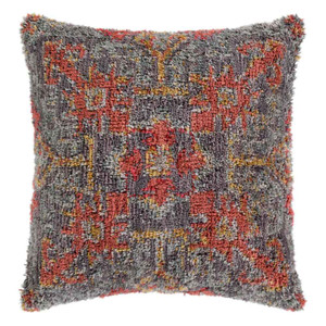 As Shown: Chalco Pillow - YRI-004 Size: 18 x 18 inches Material: Polyester and Linen Color: Multicolor
