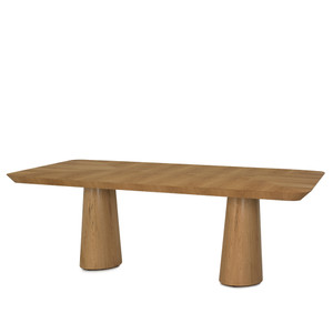 As Shown: Ingrid Dining Table Size: 84 x 44 x 29 H inches Material: Natural Wood Veneer