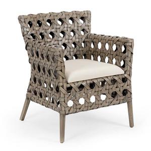 As Shown: Mandaue Bistro Chair Size: 25 x 26.25 x 31.5 H inches Material: Rattan