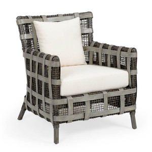 As Shown: Carlos Lounge Chair Size: 29.5 x 32 x 34 H inches Material: Rattan