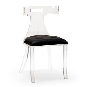 Elsa Acrylic Side Chair 19 x 16 x 34 H inches Acrylic, Leather
