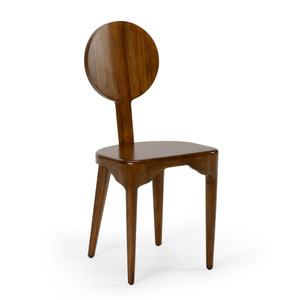 As Shown: Nikki Mahogany Side Chair Size: 15.5 x 16 x 35 H inches Material: Mahogany Wood