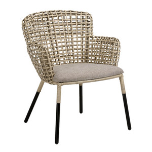As Shown: Whitney Chair Size: 21 x 25 x 32 H inches, 19 inches seat height Material: Rattan