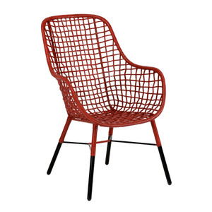 As Shown: Ellie Chair Size: 26 x 26 x 40 H inches, 17 inches seat height Material: Rattan
