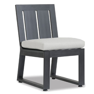 Redondo Outdoor Dining Chair 20 x 25 x 34 H inches, 18 inch seat height Powder Coated Aluminum, Canvas