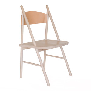 As Shown: Cress Chair Size: 21 x 20 x  36 H inches Material: Solid White Oak with Natural Leather