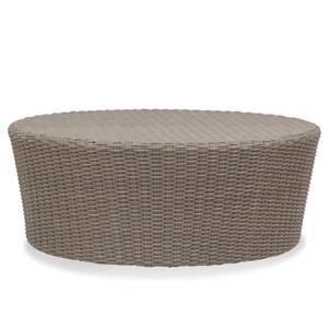 Coronado Outdoor Coffee Table 48 diameter x 20 H inches Powder coated aluminum, resin