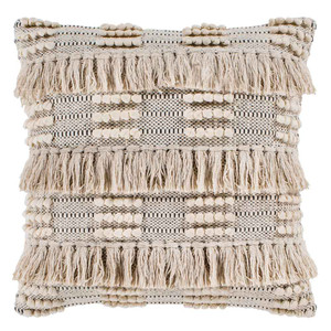 As Shown: Helena Pillow - HNA-001 Size: 18 x 18 inches Material: Hand Woven Cotton Color: Multicolor