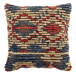 As Shown: Tichka Pillow - TCK-001 Size: 20 x 20 inches Material: Jute/Wool Blend