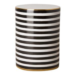 Napoli Striped Garden Stool Table 13 dia x 18.5 H inches Ceramic