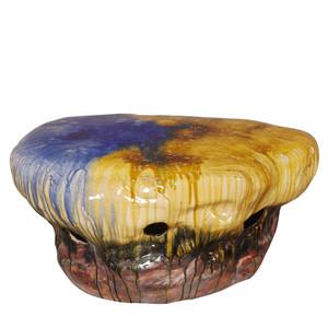 Piedra Ceramic Cocktail Table 38 x 32 x 18.5 H inches Ceramic