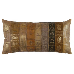 Novel Idea Pillow 9 x 18 inches Leather