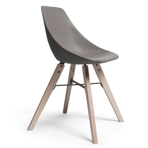 Too Cool For School Side Chair 18.5 x 17 x 30 H inches Concrete, Wood