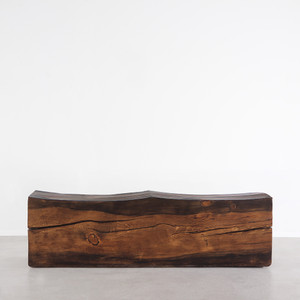 Contorno Solid Wood Bench 14 x 48 x 18 H inches Honey Brown Finish Sealed Topcoat