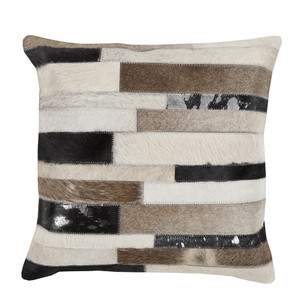 Park Row Hide Pillow 18 x 18 inches Cowhide