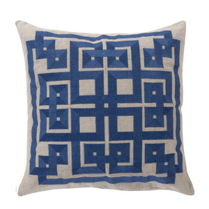 As Shown: Corfu Pillow Size: 18 x 18 inches Material: Linen