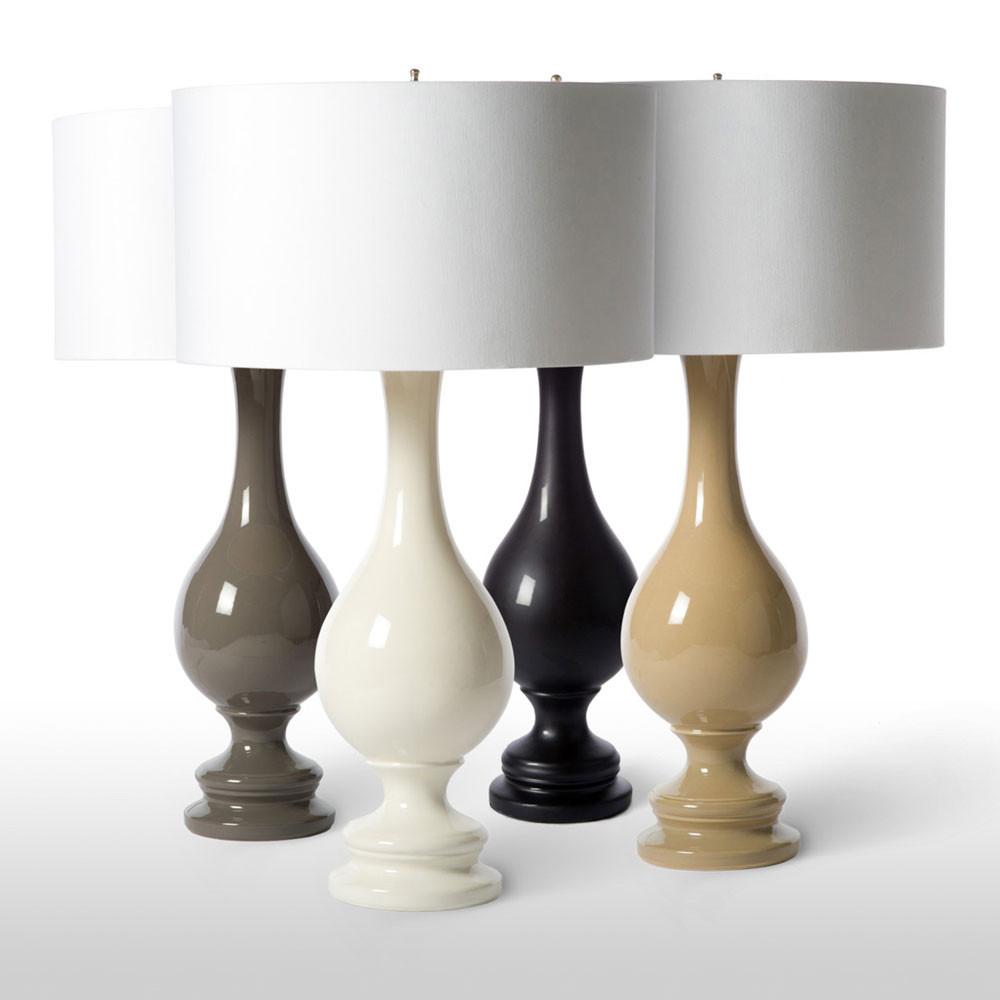 Porcelain finial table lamp pfeifer studio aloadofball Image collections