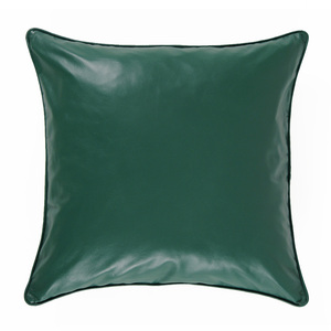 As Shown: Evergreen Leather Pillow Size:  18 x 18 inches Material: Leather Color: Green