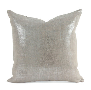 As Shown: Linen Glisten Pillow Size: 16 x 16 inches Material: Linen Color: Silver