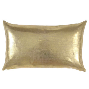 As Shown: Linen Glisten Pillow Size: 12 x 20 inches Material: Linen Color: Gold