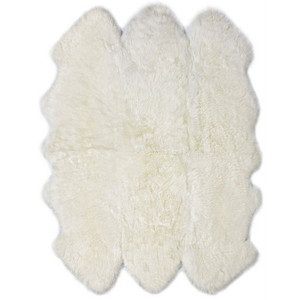 As Shown: Genuine Sheepskin Rug Size: 72 x 72 inches Material: Brushed Longwool Sheepskin