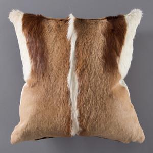 Genuine Springbok Hide Pillow 17 x 17 inches