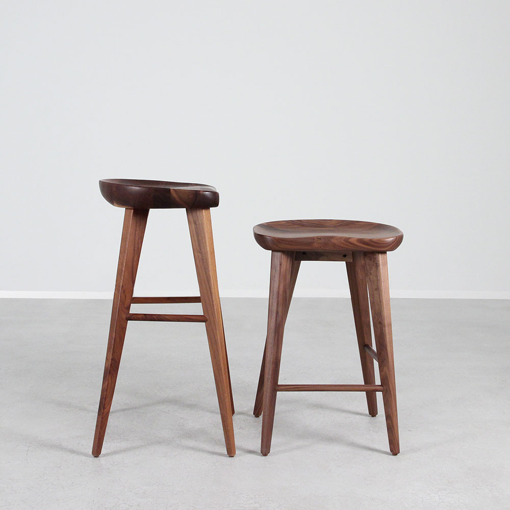 As Shown High Ball Walnut Bar Stool Size 16 X 13 24 H Inches Or  29 Material Solid Bar Stool Sizes U26
