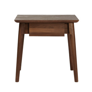 As Shown: Between Beds Drawer Table Size: 18 x 14 x 18 H inches Material: FSC certified Solid American Black Walnut Finish: Waxed