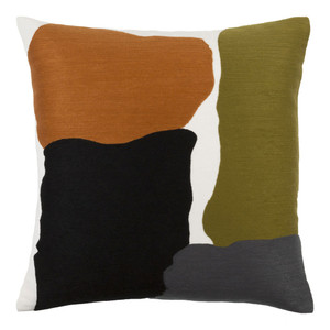 Abstract Artist Pillow - CHA-004 18 x 18 inches Cotton Style A