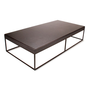 Nimbus Cork Rectangle Coffee Table 36 x 72 x 16 H inches Sustainable Cork, Steel Onyx, Black