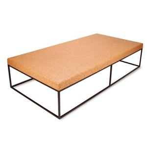 square cork and steel table | pfeifer studio