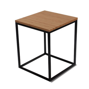 As Shown: Nimbus Bamboo Side Table Size: 16 x 16 x 20.5 H inches Material: Sustainable Bamboo, Powdercoated Steel Finish: Caramelized, Black  Description: It's hip to be square – if you're the Nimbus Bamboo Side Table that is. Because we hand fashion each table to order in four colors of sustainable Moso bamboo (it grows over a meter a day!), and then marry it to powder coated black or white steel. We played it straight with this table – straight into your living room or office.